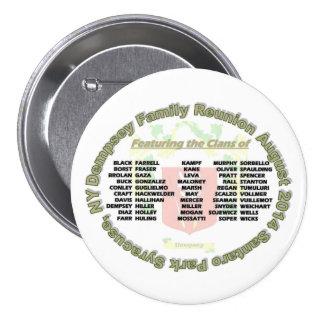 Botón 2014 de la reunión de Dempsey Pin Redondo De 3 Pulgadas