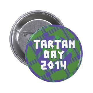 Botón 2014 del día del tartán del funcionario pin redondo de 2 pulgadas