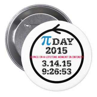 Botón 2015 de la celebración del día del pi
