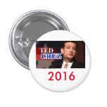 Botón 2016 de Ted Cruz Pinback Pin Redondo De 1 Pulgada
