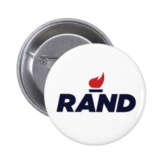 Botón 2016 del logotipo de Paul del rand Pin Redondo De 2 Pulgadas