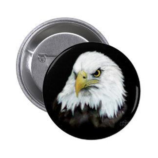 Botón 2 de Eagle calvo Pin Redondo De 2 Pulgadas