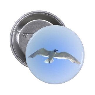 Botón 2 de la gaviota en vuelo pin redondo de 2 pulgadas