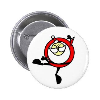 Botón #2 del BAILE de SANTA Pin Redondo De 2 Pulgadas