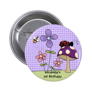 Botón 2 del remiendo de la flor pin redondo de 2 pulgadas