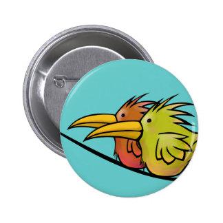 Botón, 2 pájaros en un alambre pin