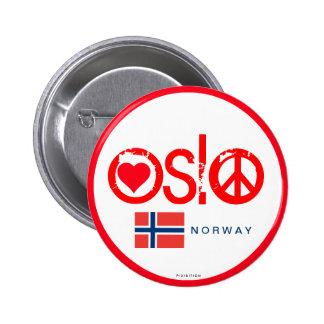 Botón 3 de la paz del amor de Oslo Pin