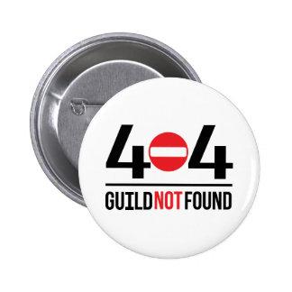 Botón 404 para arriba pin redondo de 2 pulgadas