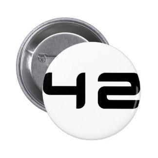 botón 42 pin redondo de 2 pulgadas