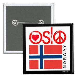 Botón 4 de la paz del amor de Oslo Pins