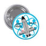 Botón 4 de las misiones de transbordador espacial pins