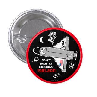Botón 5 de las misiones de transbordador espacial pin redondo de 1 pulgada