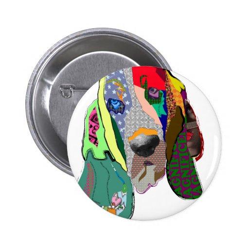 Botón $6,95 del collage del perro pins