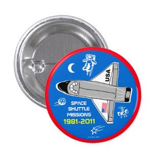 Botón 6 de las misiones de transbordador espacial pin redondo de 1 pulgada