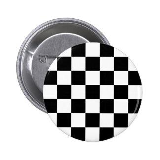 Botón a cuadros de Ska de dos tonos Pin Redondo De 2 Pulgadas