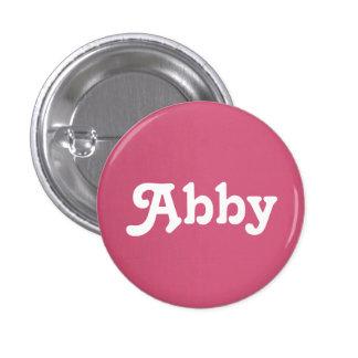 Botón Abby Pin Redondo De 1 Pulgada