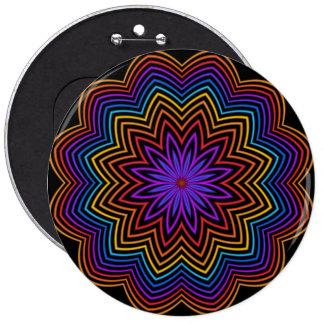 Botón abstracto de la flor de la estrella del arco
