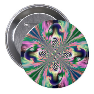 Botón abstracto de la mariposa pin