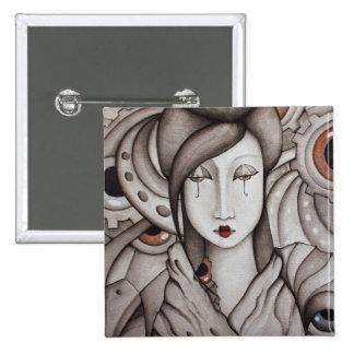 Botón abstracto del geisha pins