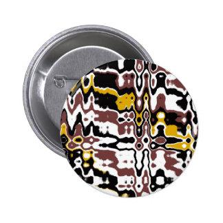 Botón abstracto del modelo pin redondo de 2 pulgadas