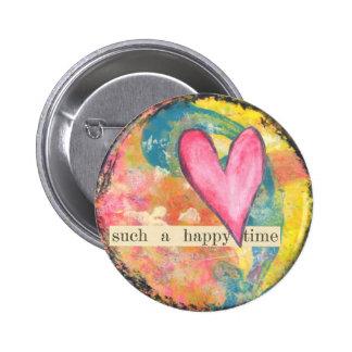 botón abstracto del perno del corazón pins