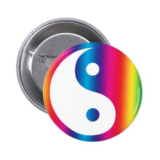 Botón abstracto del Pin de la mochila de Yang de l