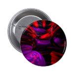 Botón abstracto psicodélico pin