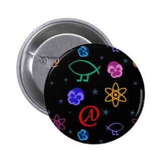 Botón adaptable ateo de Freethought Pin Redondo De 2 Pulgadas