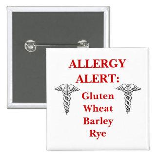 Botón adaptable de la alergia del gluten pins