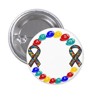 Botón adaptable de la conciencia del autismo pin