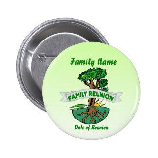 Botón adaptable de la reunión de familia pin redondo de 2 pulgadas