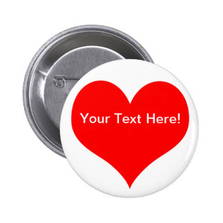 Botón adaptable del corazón pin