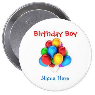 """""""Botón adaptable del muchacho del cumpleaños"""" con Pins"""