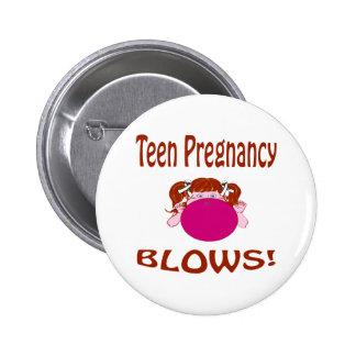 Botón adolescente del embarazo de los soplos pin