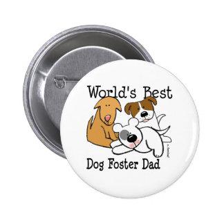 Botón adoptivo del papá del mejor perro del mundo pin