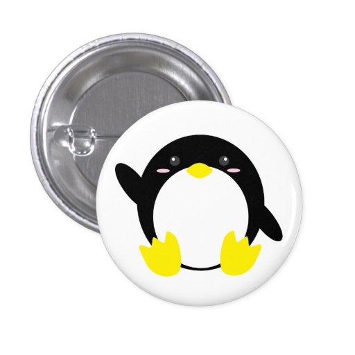 Botón adorable del pingüino pin