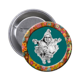 Botón afortunado de Ekeko del metal Pin
