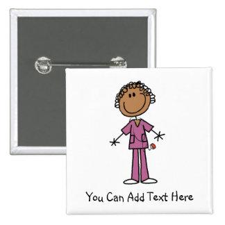 Botón afroamericano modificado para requisitos par pin cuadrado
