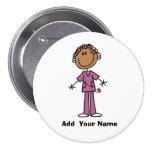 Botón afroamericano personalizado de la enfermera pins