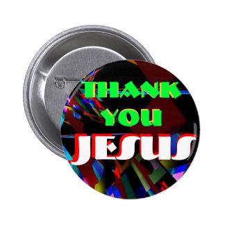 Botón-Agradézcale Jesús Pin Redondo De 2 Pulgadas