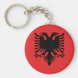 Botón albanés de la bandera llaveros personalizados