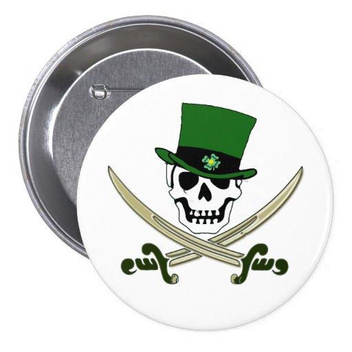 Botón alegre del Pin del pirata de Rogelio del día