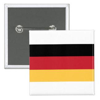 Botón alemán de la insignia de la bandera pin cuadrado