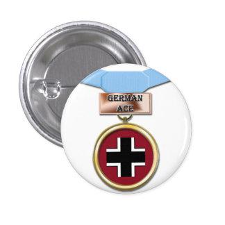 Botón alemán de la medalla del as