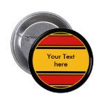 Botón Alemania de las rayas de los deportes + su Pin