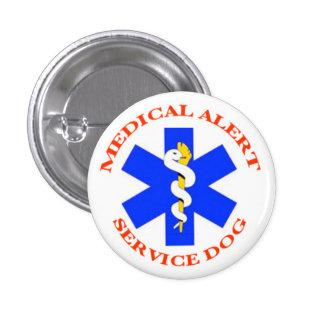 Botón alerta médico del perro del servicio pin