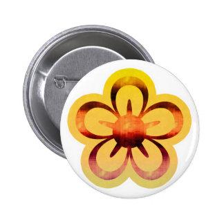 Botón amarillo de Florescence Pins