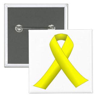 Botón amarillo de la cinta (hasta ellos todos vuel pins