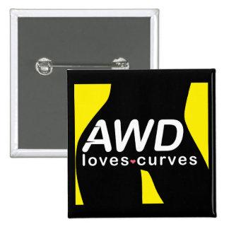 Botón amarillo de las curvas AWD de los amores