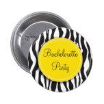 Botón amarillo del fiesta de Bachelorette del esta Pins